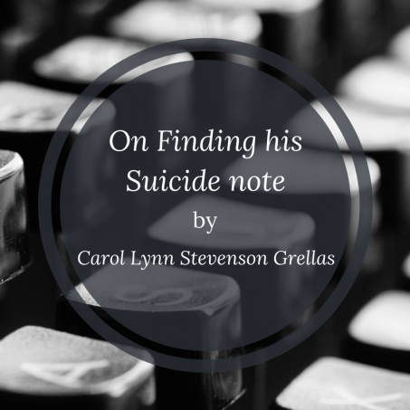 On Finding his Suicide note