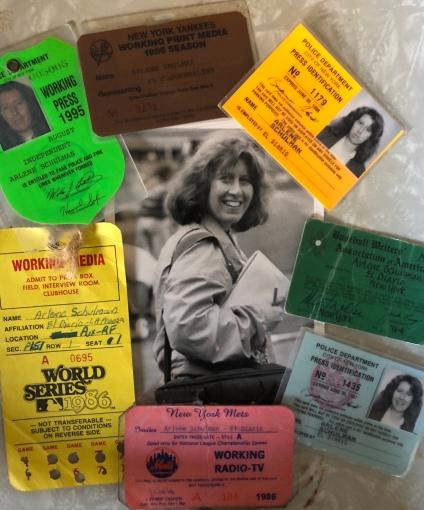 Arlene Schulman Press Passes and Photo