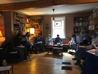 writing workshop in Pat Schneider's home copy